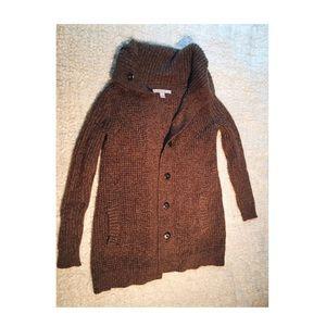 Long Waffleknit Sweater